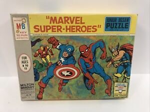 RARE Vintage Milton Bradley 1967 MARVEL JIGSAW PUZZLE! MARVELMANIA!