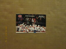 NHL Les Canadiens Vintage Circa 95-96 Hockey Logo Pocket Schedule