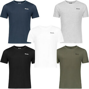 Bench Mens Oliver 5-Pack Crew Neck Casual Cotton T-Shirt Tee Top - Core