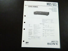 Original Service Manual Schaltplan  Sony MDS-503