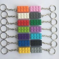25 x NEW ASSORTED LEGO BRICK KEYRINGS BIRTHDAY KIDS PARTY BAG STOCKING FILLERS