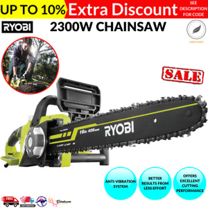 "Ryobi 2300W Electric Chainsaw/16"" (406mm) bar length/Automatic oiling"