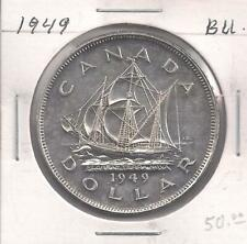 1949 BU. Silver Dollar Coin. King George the Vl.- Grade Condition.
