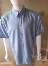 Mens Farah Shirt Size Large Short Sleeve Very Good Condition