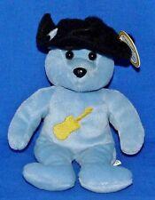 "Celebrity Bears #3 Country Star Guitar (Kenny Chesney) 9"" Blue Bear Plush EX"