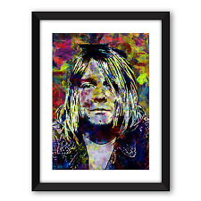 Kurt Cobain basato POSTER Taglia A4