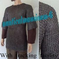 Large Size Flat Riveted with Flat Washer Chainmail Shirt Chain Mail Haubergeon