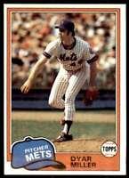 1981 Topps Baseball Set Break Dyar Miller New York Mets #472