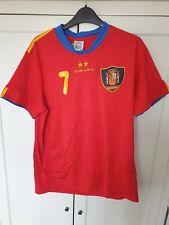 Copa Mundial de España 2010 David Villa 7 España Camiseta De Fútbol Tamaño M Mediano