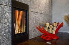 Vouge Metal Modern Handmade Firewood Wood Log Rack Basket Holder Storage in Red
