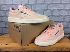 REEBOK MENS UK 5 EU 38.5 DESERT STONE PINK CLUB C 85 TRAINERS