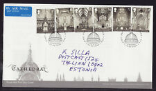 Great Britain 2008 FDC - Cathedral - with 6 stamps