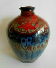 ART DECO ROYAL DOULTON FLAMBE SUNG VASE SIGNED NOKE AND F ALLEN