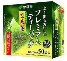 ITOEN Genmaicha Green tea with roasted rice Matcha Premium tea bag 50 Pack