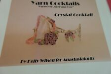 Anastasia Crochet Pattern:  Yarn Cocktails Crystal Floral Necklace & Earrings