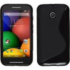 Coque en Silicone Motorola Moto E - S-Style noir + films de protection