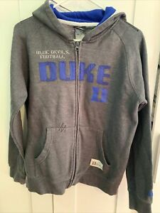 Duke Blue Devils Adidas Youth Large Hooded Sweatshirt Gray NWOT