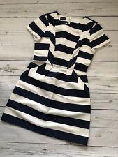 Designer Kookai Dress In Navy Stripes, Cute Mini Dress, Size 6 UK, 34 France New