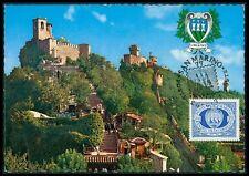 San MARINO MK 1977 3 torri Towers maximum carta carte MAXIMUM CARD MC cm bg44