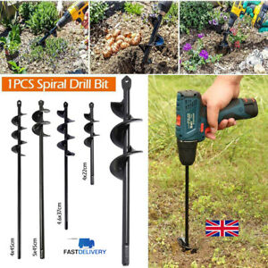 UK Earth Auger Drill Bit Tools Fence Borer For Garden Planting Post Hole Digger