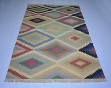 Traditional Oriental Cotton Kilim Area Rug Living Room Bedroom Guest Room 4x6 ft