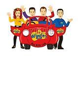 IRON ON TRANSFER WIGGLES BIG RED CAR LACHIE EMMA 15X10CM