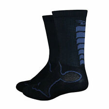 "DeFeet Levitator 6"" Trail Ribbed Black Cycling Athletic Socks Size Small"