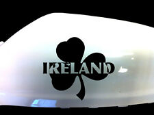 Ireland Irish Shamrock Car Sticker Wing Mirror Styling Decals (Set of 2), Black