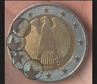 Zwei Euro Münze (2 €) 2014 F Deutschland Fehlprägung Sehr - Rar -🌙