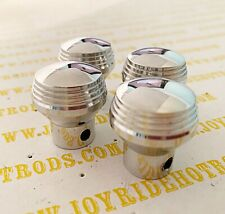 4 x Genuine 'Art Deco' Style Dash Knobs by SoCal Speed Shop- Pol Alum