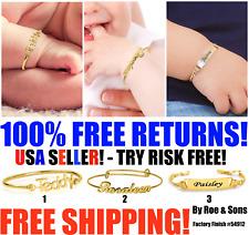 14K Gold Plated Personalized Baby ID Bracelet, Custom Name Boy / Girl Bracelet