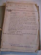 DOSSIER TRAVAUX LIORET ABATTOIR DE NANCY 1918 LORRAINE