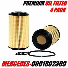 4 Pack MERCEDES-BENZ Engine Oil Filter OE# 1121800009 / 0001802309
