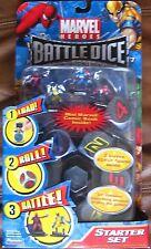 Marvel Heroes Battle Dice Starter Set 6 mini figures Comic Book Captain America