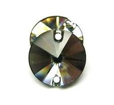 2 Piezas Swarovski ® Negro Diamante 14 Mm Redondo Tejido-Swarovski Ref: 3200