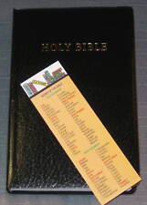 NLT Holy Bible New Living Translation BLK Imit. Leather Free Bookmark! New