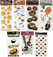 20 Halloween Party Loot Cello Gift Sweet Cellophane Bag Pumpkin Spooky Treat Fun