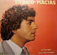 ENRICO MACIAS un berger vient de tomber LP 1981 TREMA la courte echelle RARE M++