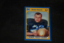 ROCKY BLEIER 1990 COLLEGIATE COLLECTION SIGNED AUTOGRAPHED CARD #41 NOTRE DAME