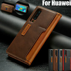 Flip Leather Case Wallet Magnetic Phone Cover For Huawei P20 Mate20 Pro P30 Lite