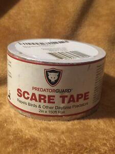 """Predatorguard Bird Repellent Silver Reflective Scare Tape -2"""" x 150 Ft. Roll"""