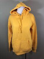 Camp David Solid Yellow Hoodie Hooded Sweatshirt Women's Medium M