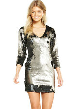 V by Very Petite Sequin Mini Dress in Metallic Size 10