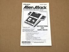 Coleco Alien Attack Hand-held Electronic Game (Manual Only) English & Spanish