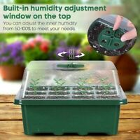 12Hole Plant Seed Grow Box Nursery Seedling Starter Garden Yard Tray Plastic Kit