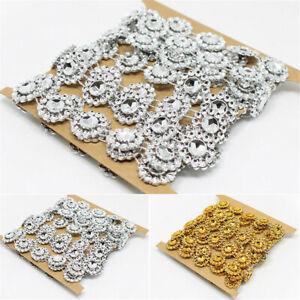 2 Yards Mesh Wrap Sunflowers Rhinestone Chain Ribbon Trim Sewing Decor Applique