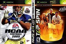Microsoft XBOX NCAA Football 2005 / Top Spin Combo (COMPLETE)