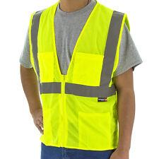 Majestic Safety Hi-Viz Mesh Yellow Vest  ANSI Class 2 with zipper 75-3231 Large