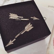 Crystal Simple Ear Stud Fashion Jewelry Women Bow Arrow Earrings