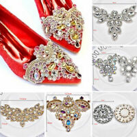 Rhinestone Beaded Applique Crystal Chain Sew/Iron On Bridal Dress Shoes Decor